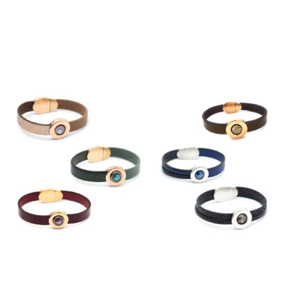 Stikle Leather bracelet with magnetic clasp