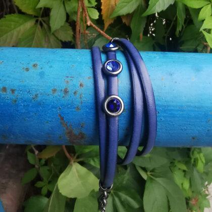 Double leather bracelets